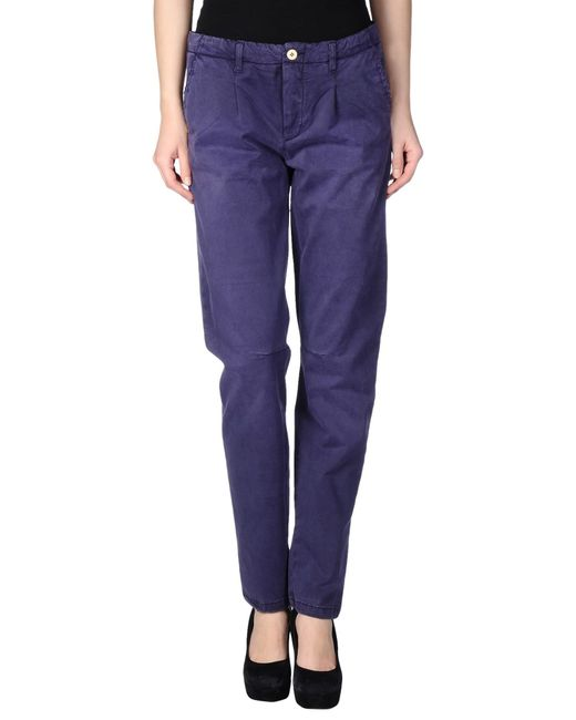 Manila Grace | Purple Casual Trouser | Lyst