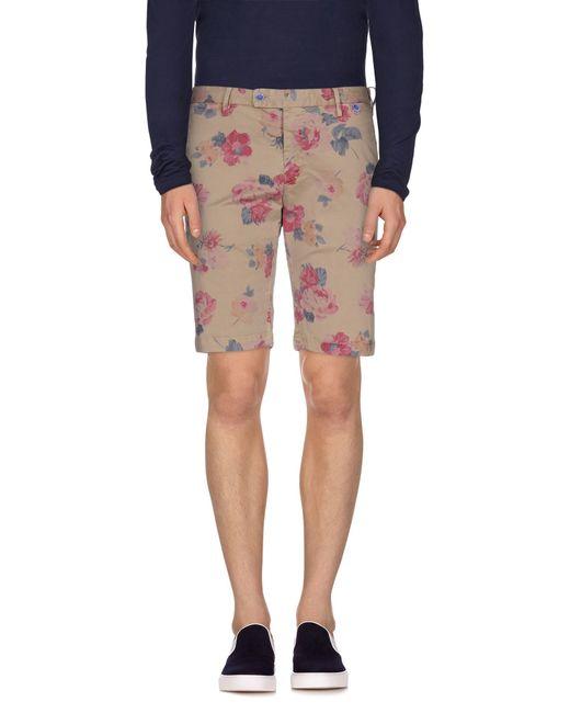 AT.P.CO | Natural Bermuda Shorts for Men | Lyst
