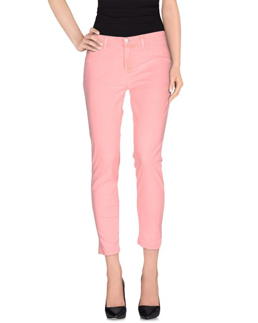 J Brand | Pink Casual Trouser | Lyst