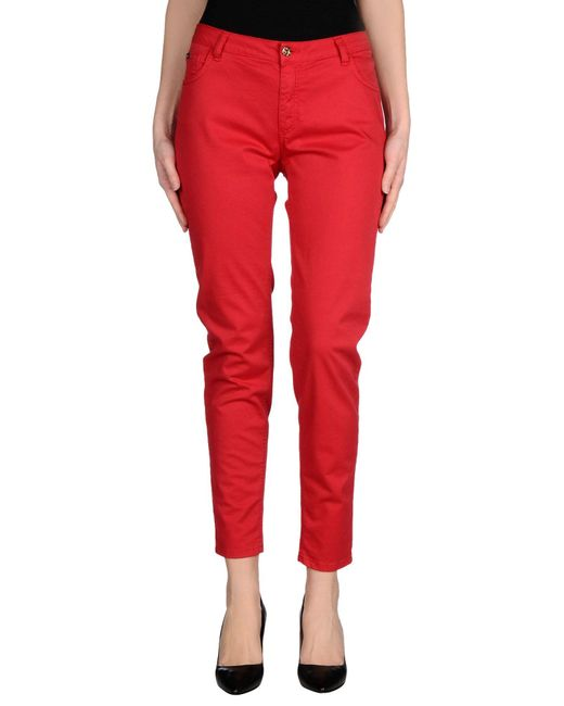 Blumarine | Red Casual Trouser | Lyst