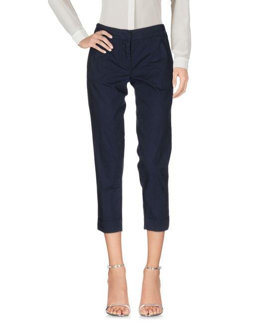 Manila Grace | Blue 3/4-length Trousers | Lyst