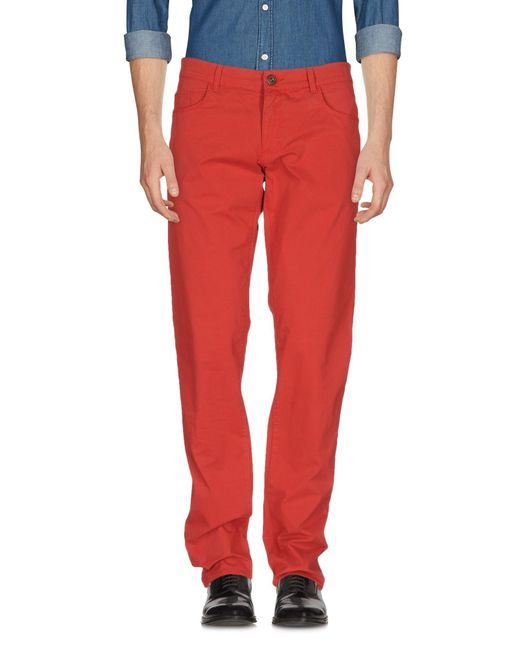 Trussardi | Red Casual Pants for Men | Lyst