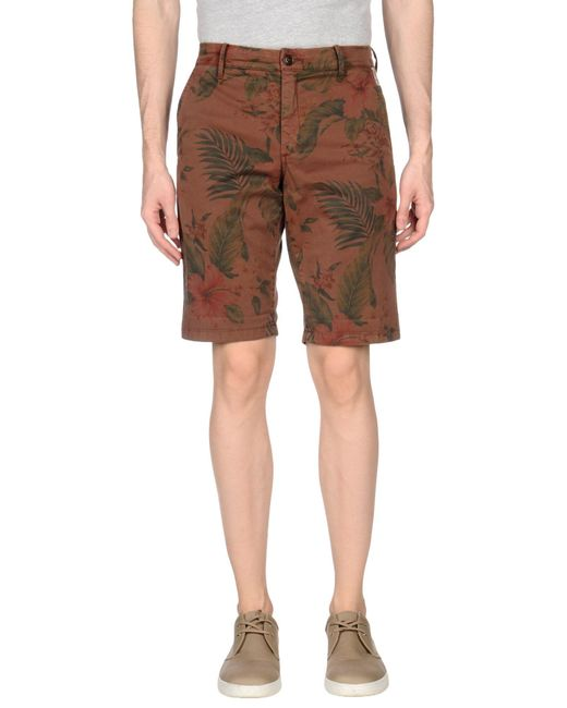 Franklin & Marshall   Brown Bermuda Shorts for Men   Lyst