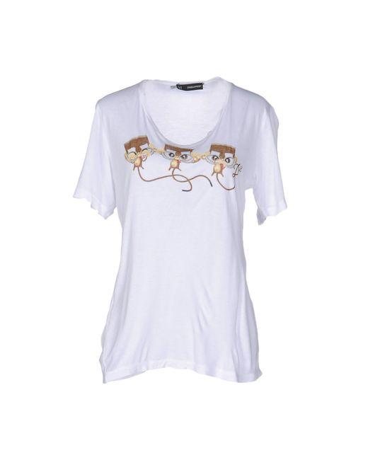 DSquared² | White T-shirt | Lyst