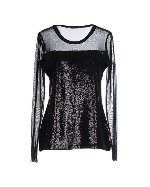 Liu Jo | Black T-shirt | Lyst