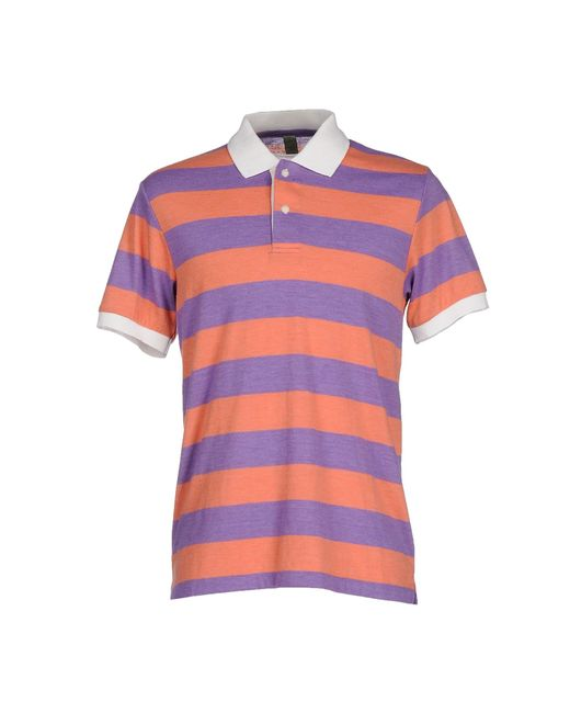 Alternative Apparel Polo Shirt In Red For Men Salmon Pink