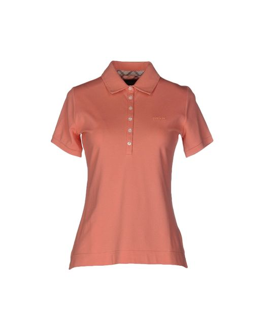 Barbour Polo Shirt In Red Salmon Pink Lyst