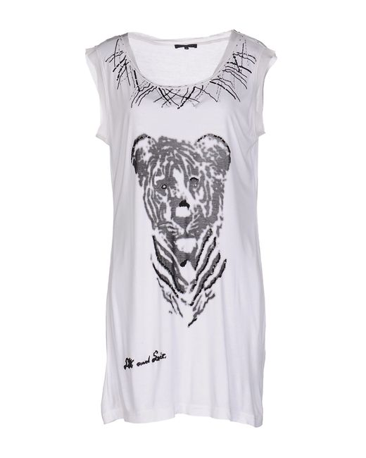 Silk and soie t shirt in white lyst for Silk white t shirt