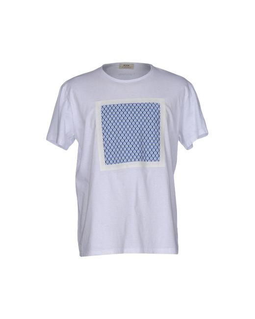 Roda at the beach t shirt in white for men lyst for Beach t shirts for men