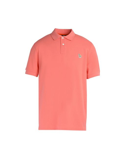 Ps By Paul Smith Polo Shirt In Pink For Men Lyst
