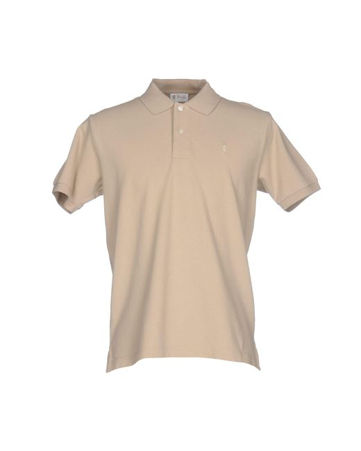 pringle of scotland polo shirt in natural for men lyst