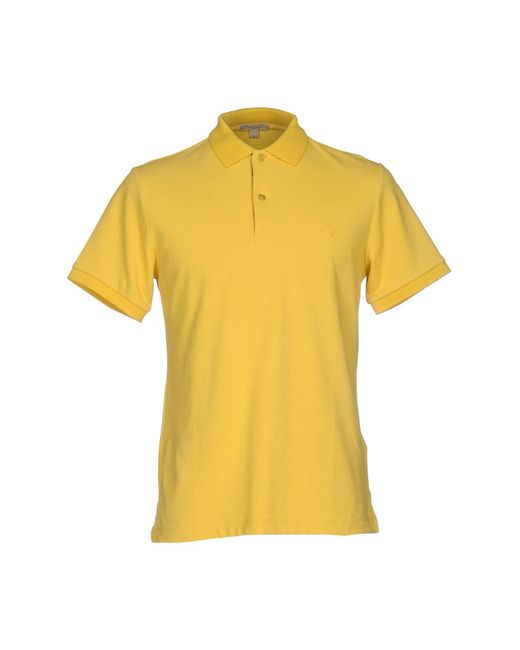 Burberry Brit Polo Shirt In Yellow For Men Lyst