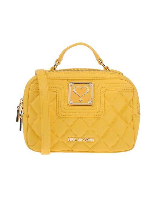 Love Moschino - Yellow Handbag - Lyst