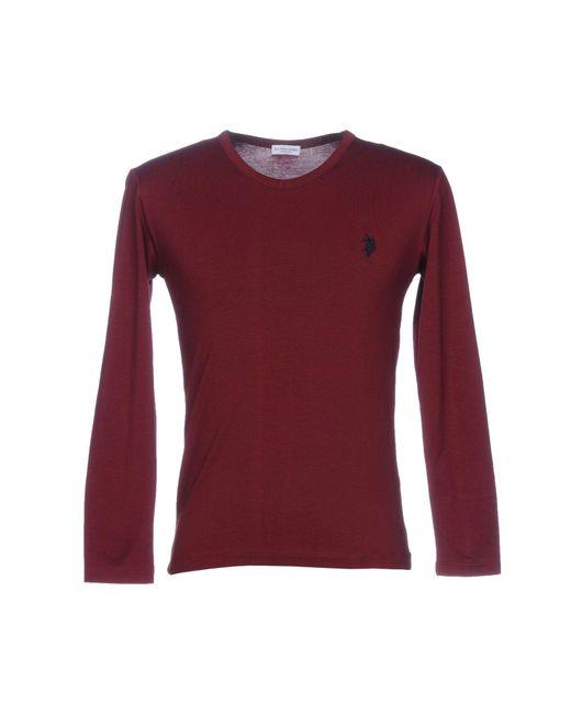 U.S. POLO ASSN. - Red T-shirt for Men - Lyst