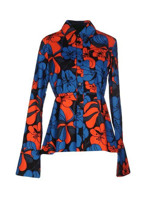 Marni   Blue Shirt   Lyst