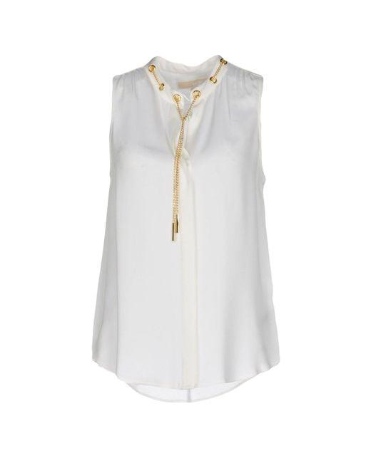 MICHAEL Michael Kors   White Shirt   Lyst