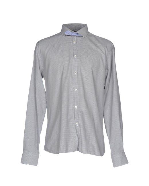 Aglini | Gray Shirt for Men | Lyst