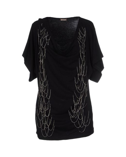 John Galliano | Black T-shirt | Lyst