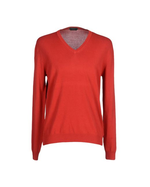 Zanone | Red Jumper for Men | Lyst