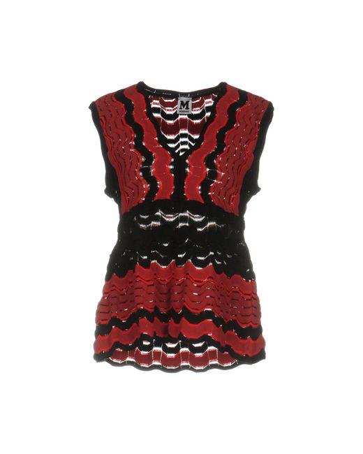 M Missoni | Red Sweater | Lyst
