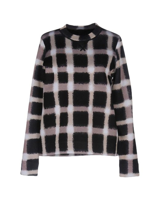 Marc By Marc Jacobs | Black Blurred Gingham Sweater | Lyst