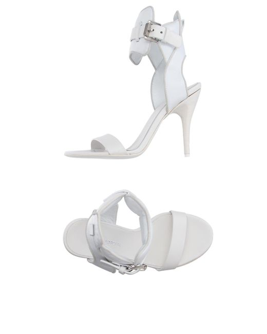 CoSTUME NATIONAL - White Sandals - Lyst