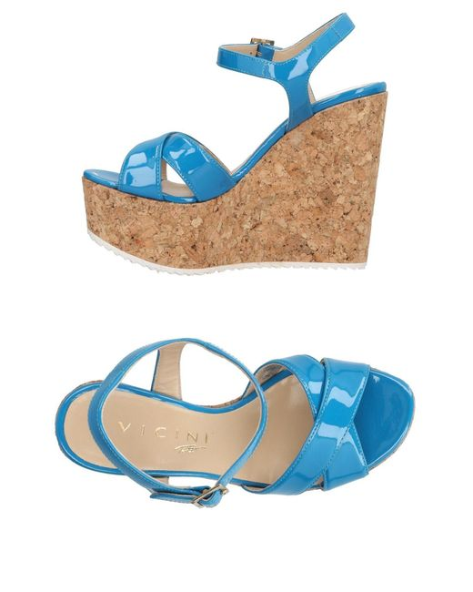 Vicini Tapeet - Blue Sandals - Lyst