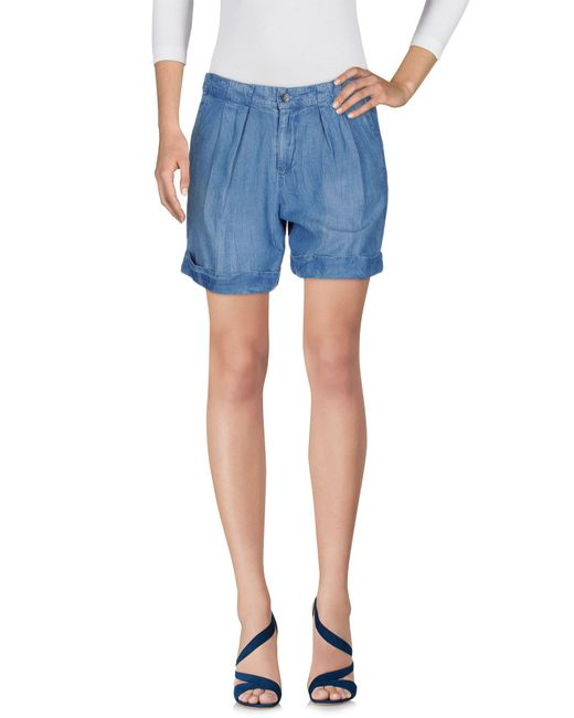 Splendid - Blue Denim Shorts - Lyst