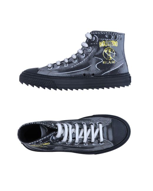 Moschino - Gray High-tops & Sneakers for Men - Lyst