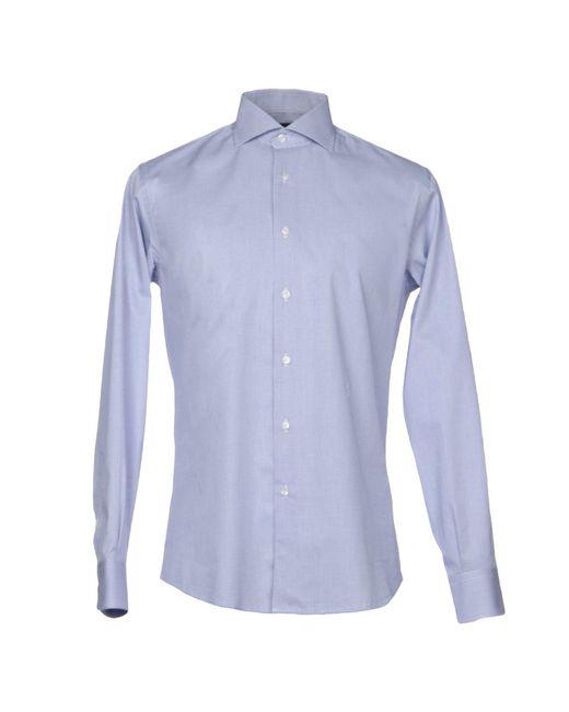 Tru Trussardi - Blue Shirt for Men - Lyst