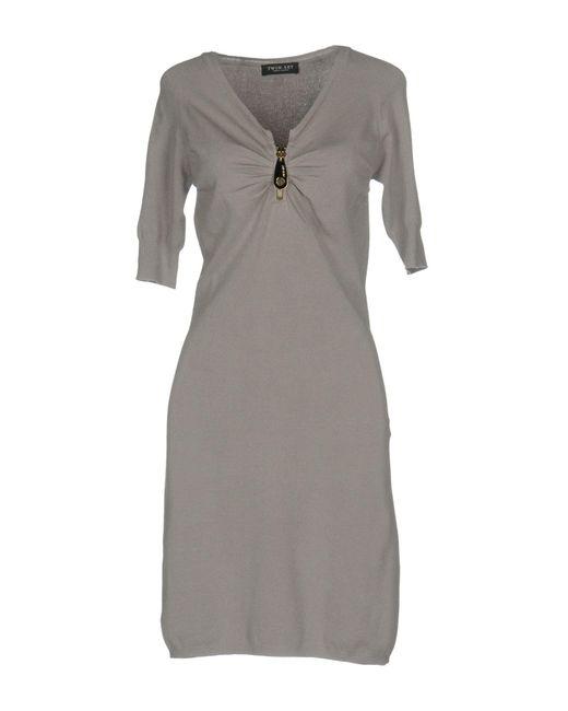 Twin Set - Gray Short Dresses - Lyst