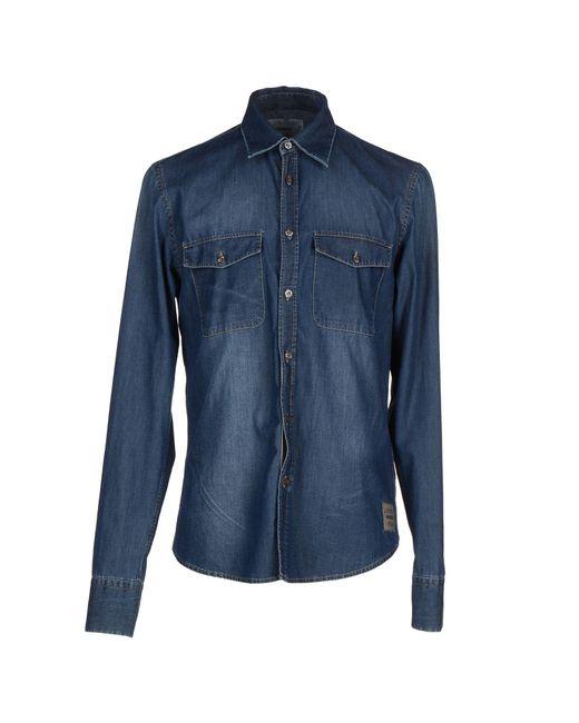 Dekker - Blue Denim Shirt for Men - Lyst