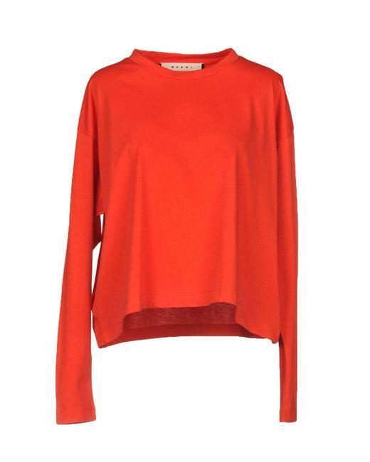 Marni - Red T-shirt - Lyst