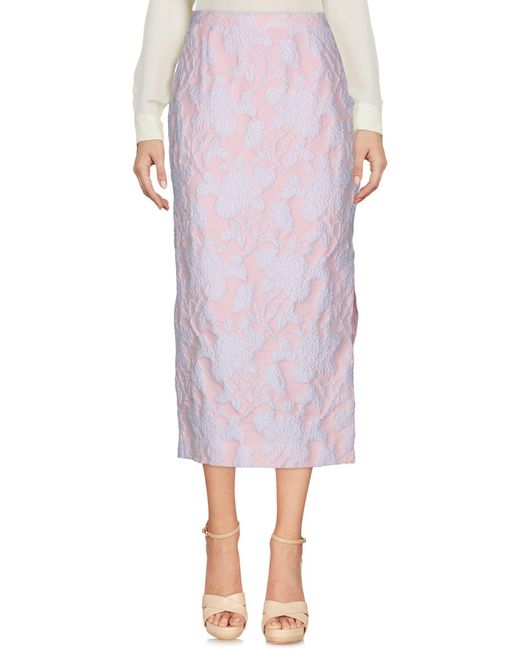 Rochas - Pink 3/4 Length Skirt - Lyst