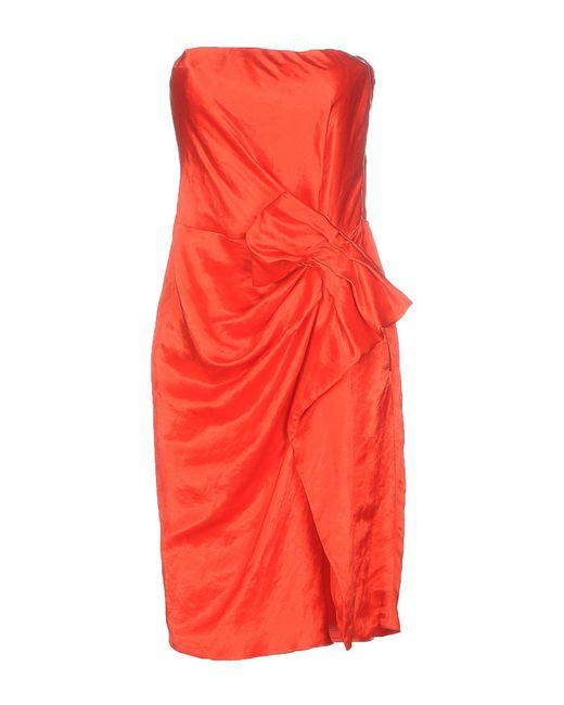 Lanvin - Red Short Dress - Lyst