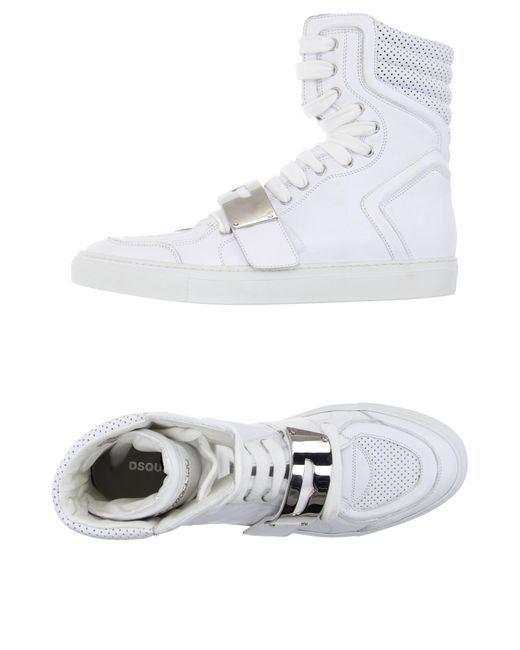 DSquared² - White High-tops & Sneakers for Men - Lyst
