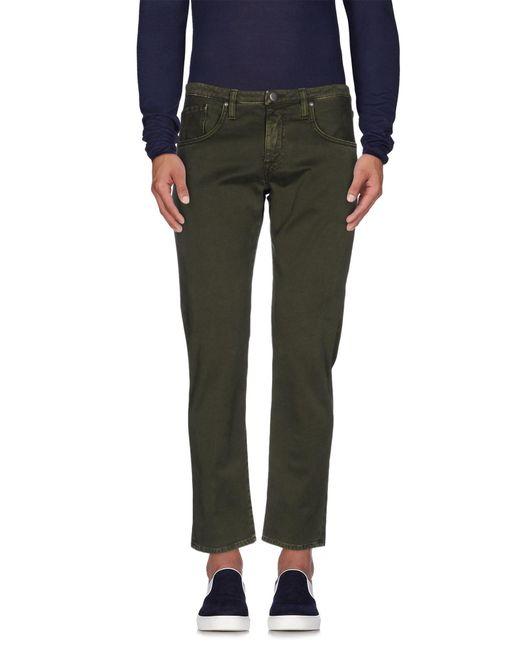 People - Green Denim Trousers for Men - Lyst