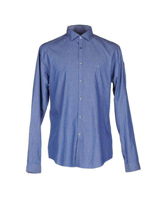 Calvin Klein - Blue Denim Shirt for Men - Lyst