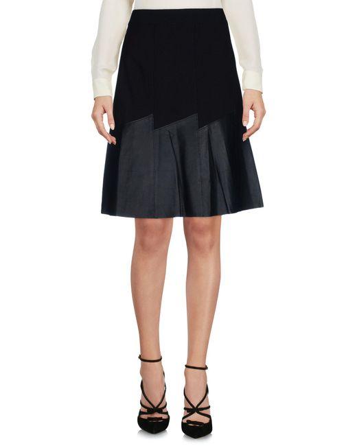 Elie Tahari | Black Knee Length Skirt | Lyst