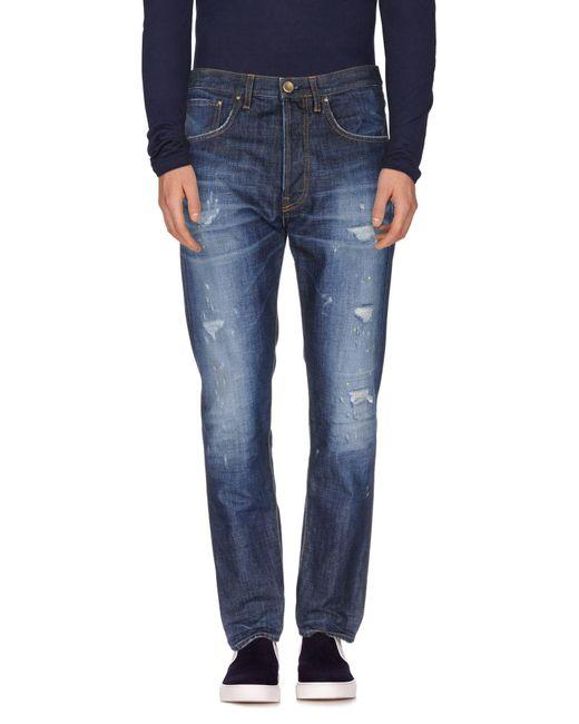 Aglini - Blue Denim Trousers for Men - Lyst