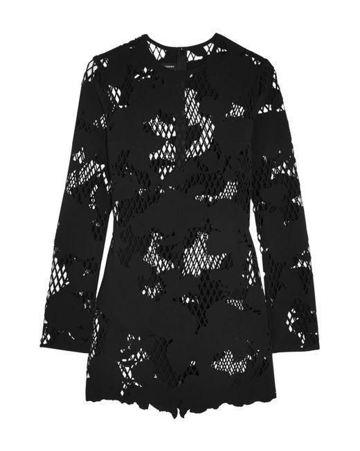 Anthony Vaccarello - Black Short Dress - Lyst