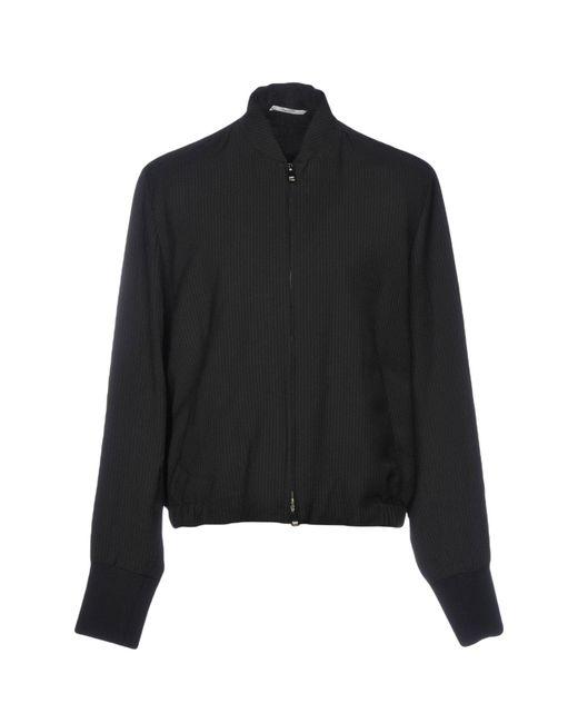 Valentino - Black Overcoat for Men - Lyst