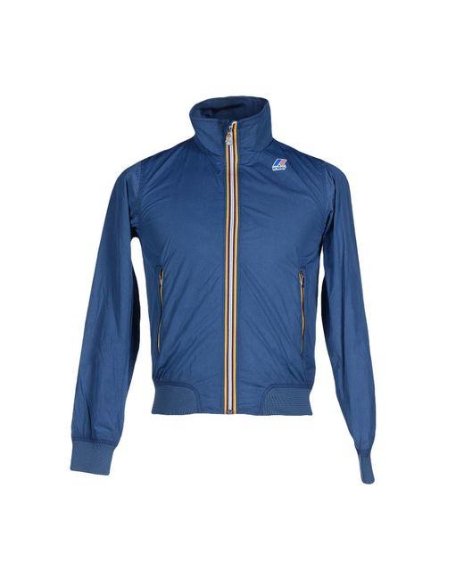 K-Way | Blue Jacket for Men | Lyst