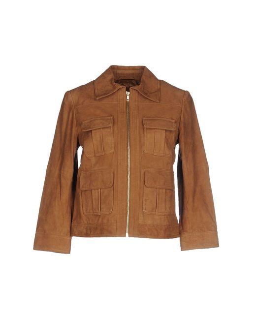 Stefanel | Brown Jacket | Lyst