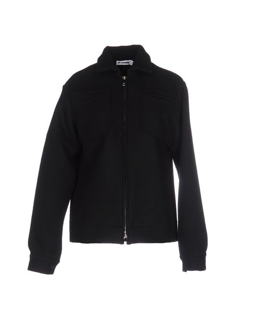 Jil Sander | Black Stretch-wool Jacket | Lyst