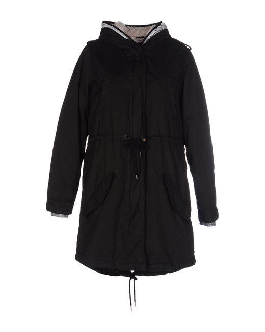 maison scotch jacket in black lyst. Black Bedroom Furniture Sets. Home Design Ideas