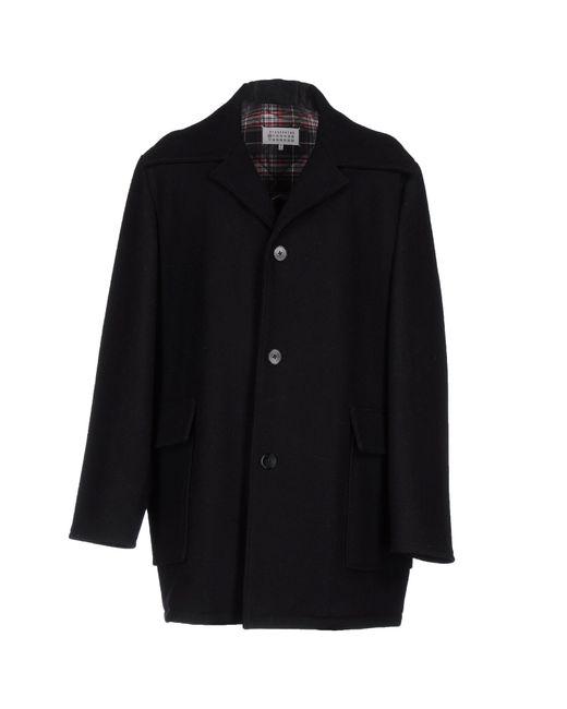 Maison Margiela | Black Coat for Men | Lyst