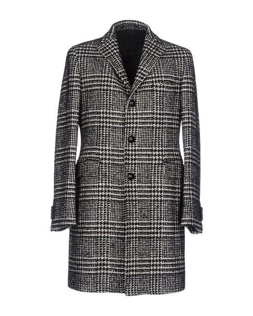 Tagliatore | Black Coat for Men | Lyst