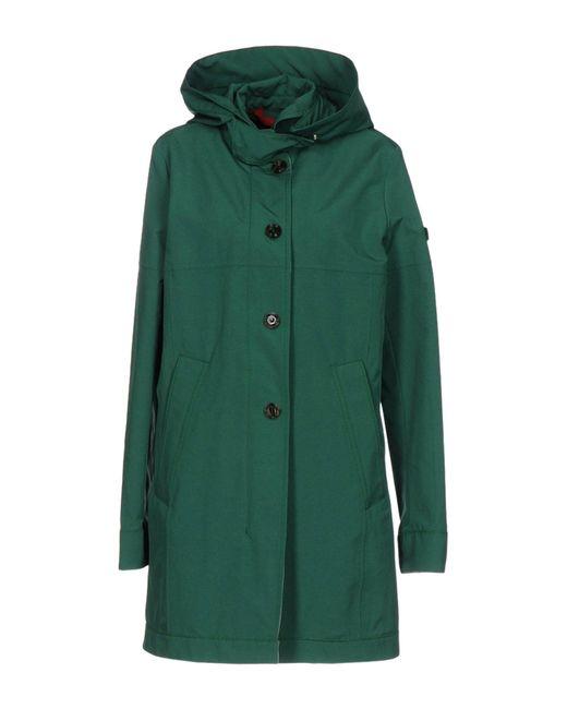 Peuterey | Green Overcoat | Lyst
