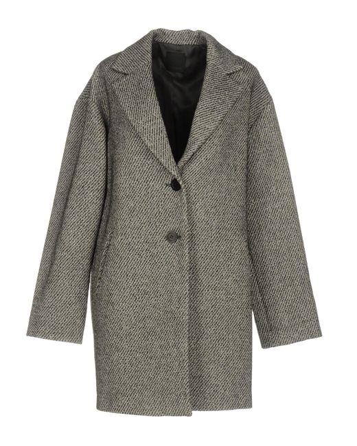 Pinko   Gray Coat   Lyst